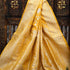 Yellow Color Sona Rupa Floral Jaal Pure Katan Silk Banarasi Saree - Sacred Weaves