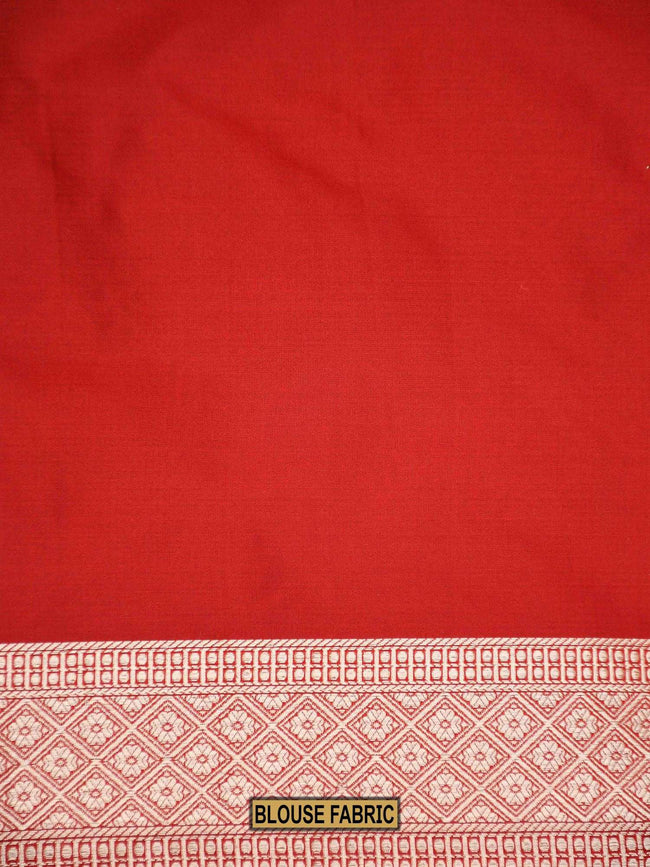 Gorgeous Maroon Color Uppada Pure Katan Silk Banarasi Saree - Sacred Weaves