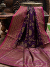 Purple Dupion Banarasi Handloom Saree - Sacred Weaves