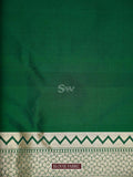 Dark Green Color Gold Zari Uppada Pure Katan Silk Banarasi Saree - Sacred Weaves