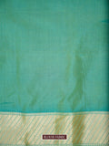 Pista Green Color Gold Zari Uppada Pure Katan Silk Banarasi Saree - Sacred Weaves