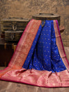 Blue Katan Silk Banarasi Handloom Saree - Sacred Weaves