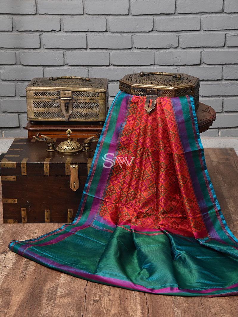 Multicolor Tanchoi Silk Handloom Banarasi Saree - Sacred Weaves