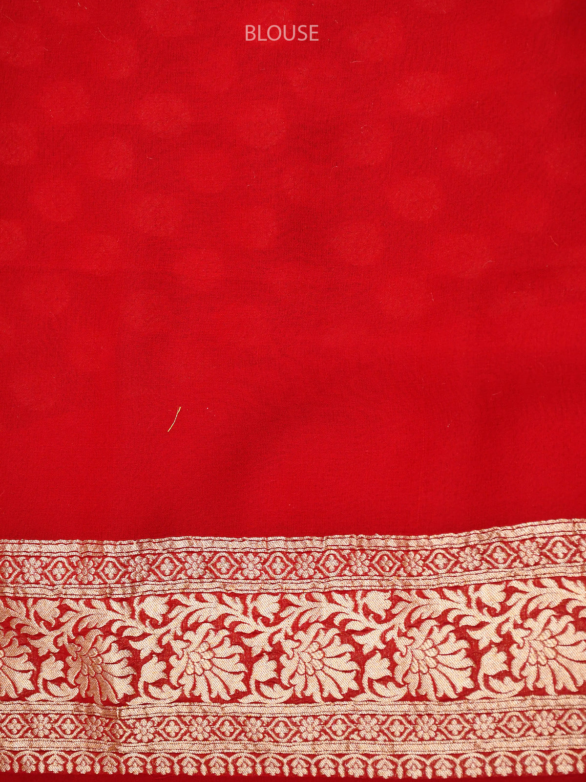 Red Booti Khaddi Georgette Handloom Banarasi Saree - Sacred Weaves