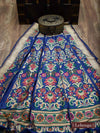 Blue Color Gold Zari Pure Silk Banarasi Lehenga - Sacred Weaves