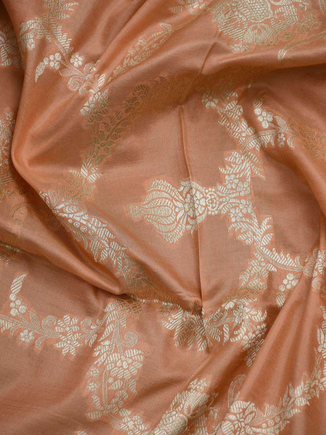 Rustic Orange Color Pure Katan Silk Banarasi Dupatta - Sacred Weaves