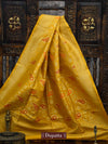 Yellow Color Meenakari Pure Katan Silk Banarasi Dupatta - Sacred Weaves