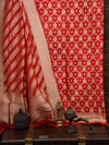Red Katan Silk Banarasi Handloom Suit - Sacred Weaves