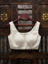 Cream Swarovski Ready-Made Blouse - Sacred Weaves