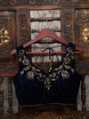 Navy Blue Swarovski Ready-Made Blouse - Sacred Weaves