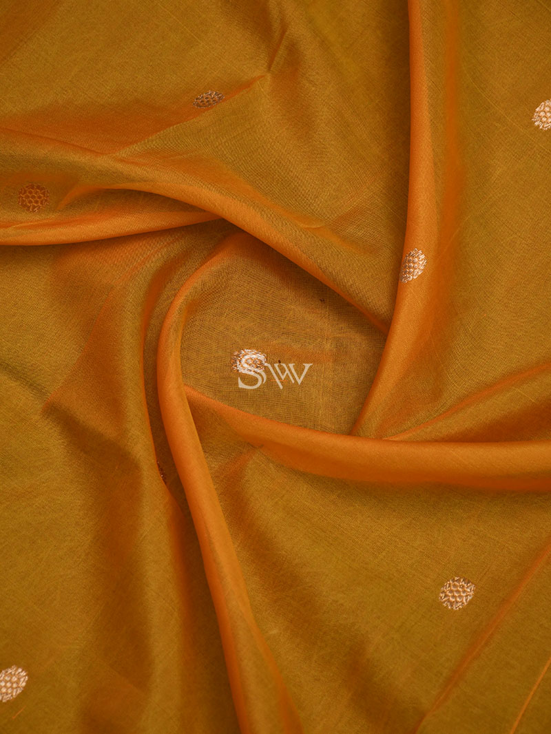 Yellow Katan Silk Handloom Banarasi Suit - Sacred Weaves