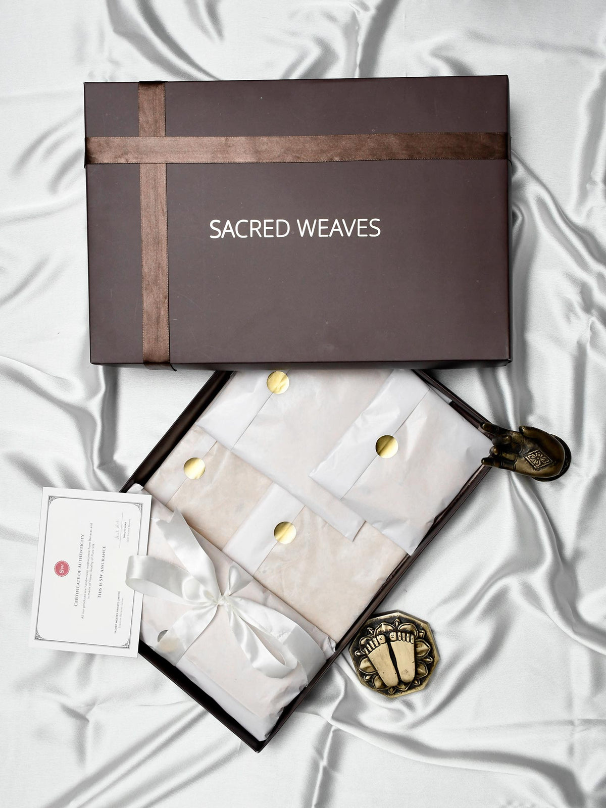 Hand Woven Banarasi Silk Accessories - Sacred Weaves