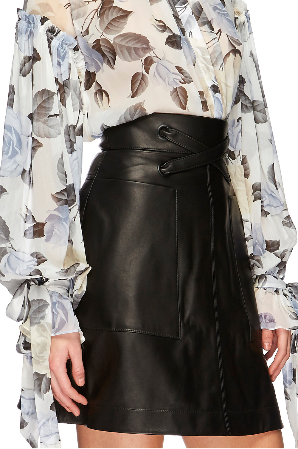 Chester Leather Mini Skirt
