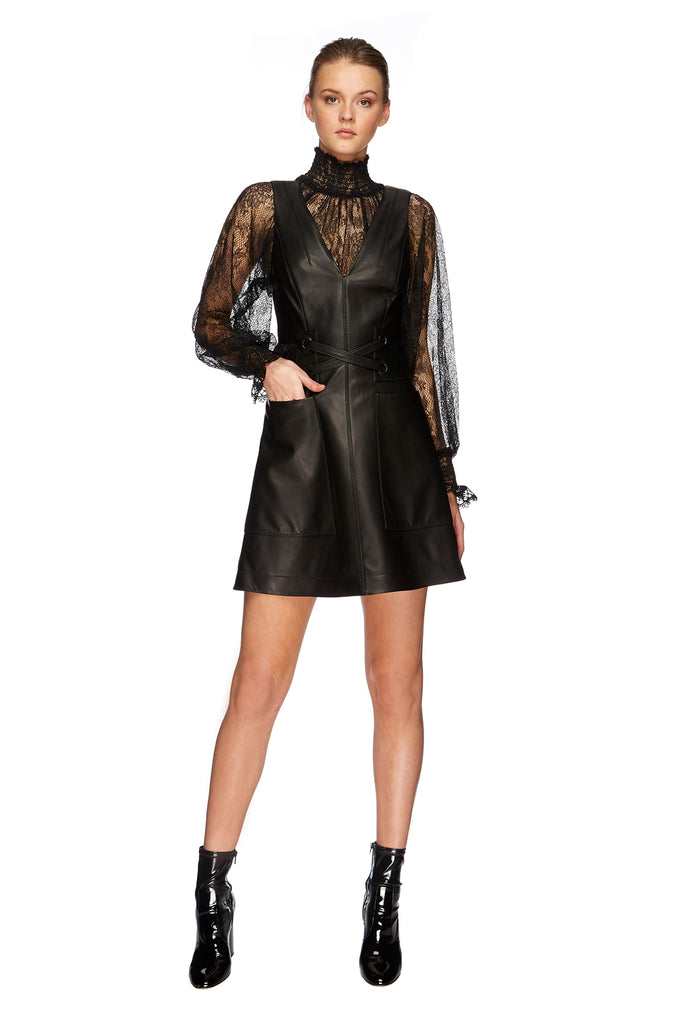 Chester Leather Mini Dress