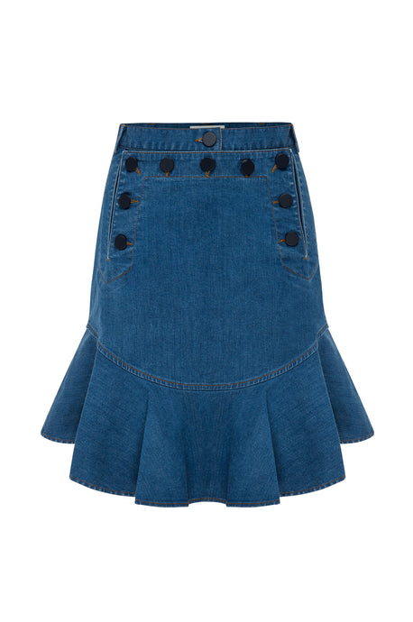 Anchor Flip Skirt Indigo 2
