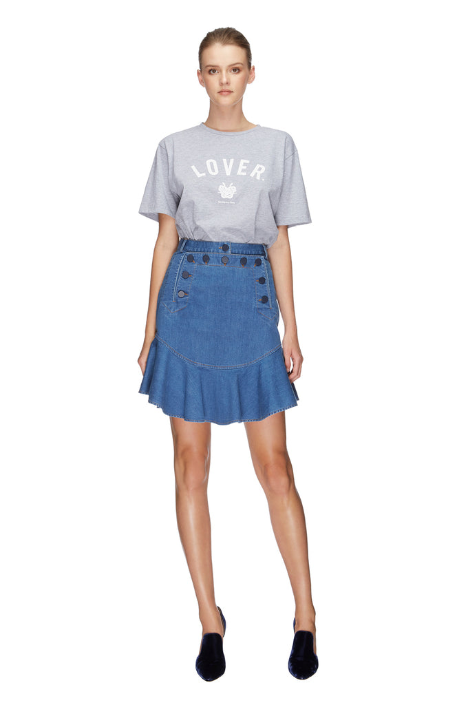 Lover College Tee Grey 1