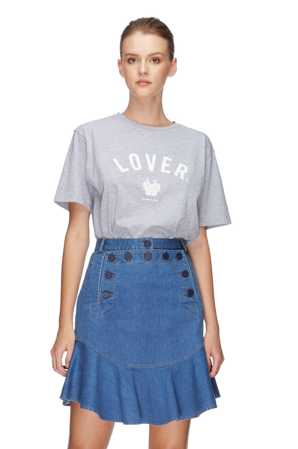 Lover College Tee Grey 5
