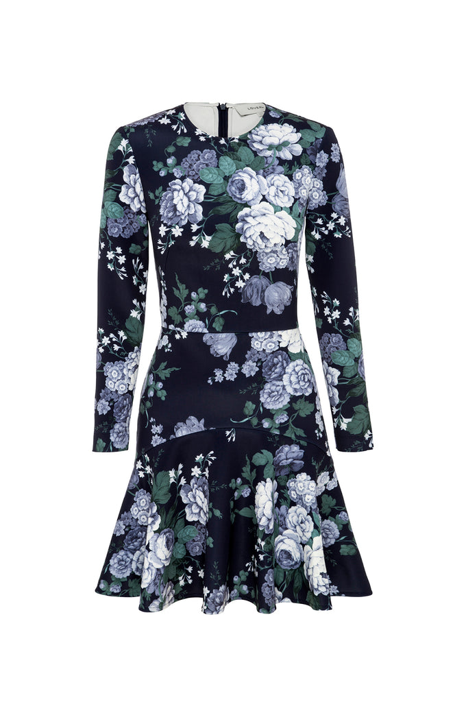 Peony Mini Flip Dress Navy 2