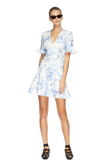 Fleur V Flip Mini Dress