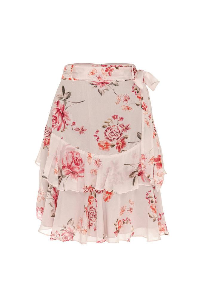 Blossom Georgette Mini Skirt