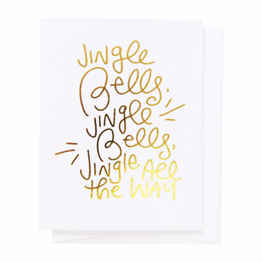 The Penny Paper Co. - Greeting Card, Jingle Bells