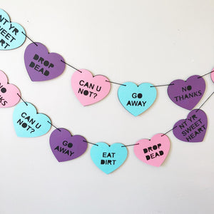 Rude Conversation Hearts Banner
