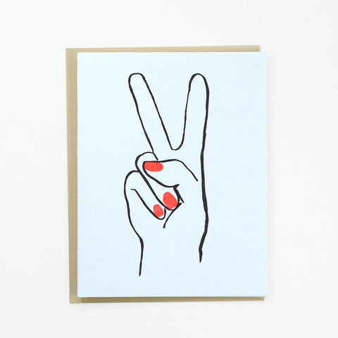 Hand Sign Greeting Card