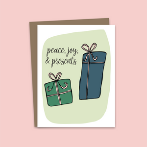 Peace, Love, and Presents Card