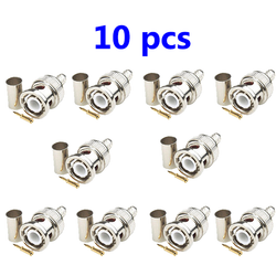 10 x 3-piece crimp BNC male connector plugs RG59 - DK-Digital