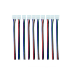 10 pcs 4 Pin Solderless For 2835 3528 RGB Led Strip 10mm  to 4 Wires - DK-Digital