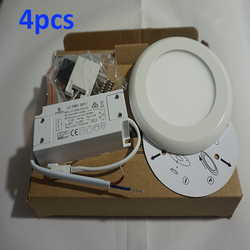 4pcs  LED Panel Light Ceiling Downlight Round Surface Mount 4000K Wall Lamp - DK-Digital