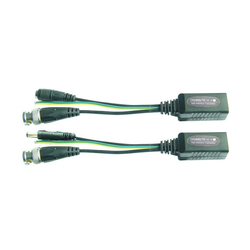 1 Pair Video Balun Power Video Data CCTV PTZ BNC to RJ45 CAT5