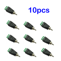 10pcs CAT5 CAT6 Speaker Wire to Audio Video Phono Male RCA Connector Jack Plug