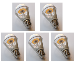 8W LED (75W) E27 Lamp Light Bulb Clear Screw Cap In ES E27 5pcs - DK-Digital