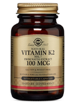 Vitamin K (MK-7) 100 mcg Naturally Sourced Vegetable Capsules