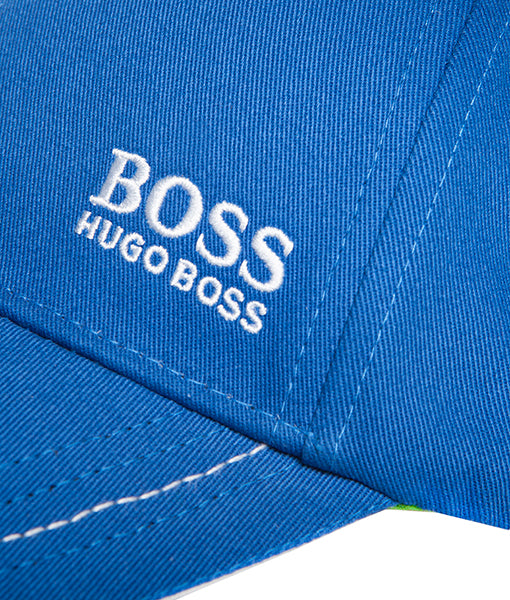 f530a9733 HUGO BOSS Twill Logo Baseball Cap - Blue – RICCADO.CO.UK