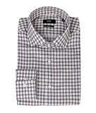 Hugo Boss Check Shirt - White/Brown