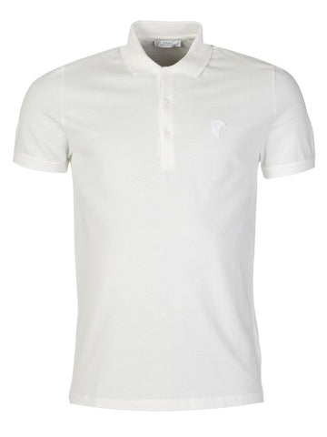 VERSACE Medusa Polo Shirt - WHITE