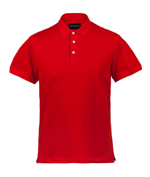 EMPORIO ARMANI Slim Fit Eagle Polo Shirt - Red