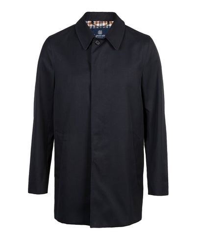 AQUASCUTUM Berkley Raincoat - NAVY