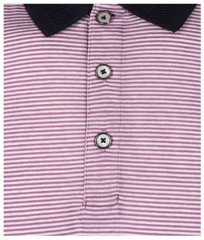 TED BAKER  Beagle Ribstart Stripe Polo Shirt - Purple