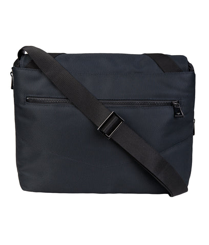EMPORIO ARMANI Messenger Buckled Bag - Dark Blue/Black