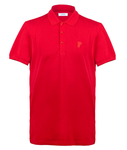 VERSACE Half Medusa Polo Shirt V800543A  - Red