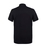 VERSACE  - Half Medusa Cotton Polo T-shirt V800708 - Black