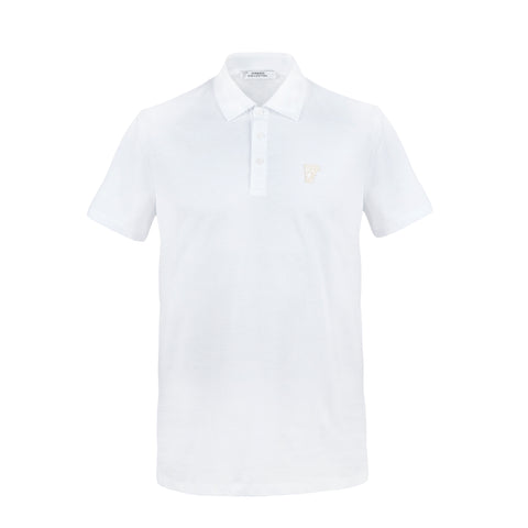 VERSACE - Half Medusa Cotton Polo T-shirt V800708 - White