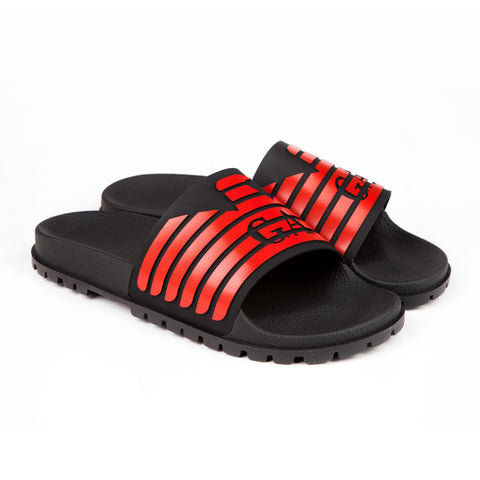EMPORIO ARMANI - Rubber Sliders - Red