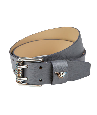 Emporio Armani Leather Belt - Grey