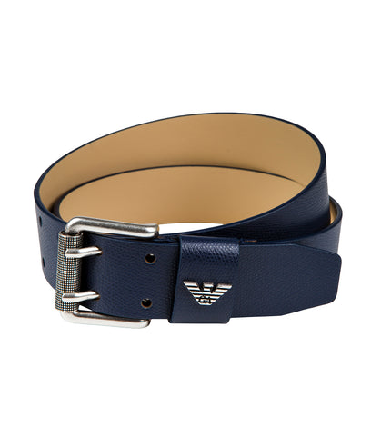 Emporio Armani Leather Belt - Navy