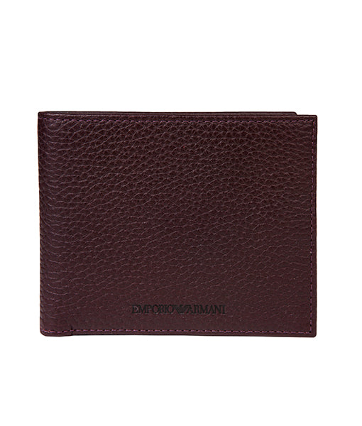 Emporio Armani Leather Wallet - Burgundy