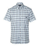 AQUASCUTUM York Club Check  Shirt - Blue